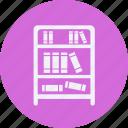 bookshelf, decorations, furniture, home, household, interior, property icon