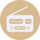 decorations, furniture, home, household, interior, property, radio icon