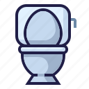 flush, furnishing, furniture, home living, household, toilet, wc icon