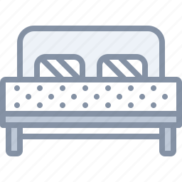 bed, bedroom, furniture, home, room, sleeping icon