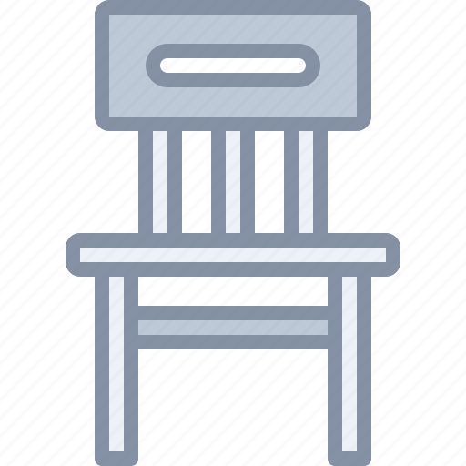 chair, desk, furniture, home, household, seat icon