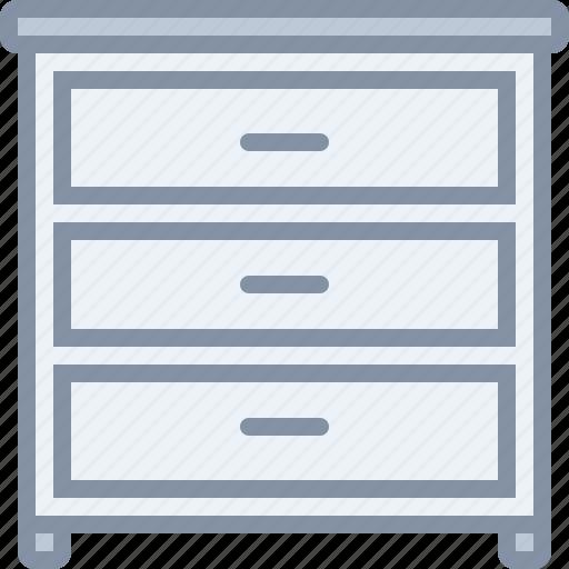 drawer, furniture, home, household, shelf, wardrobe icon
