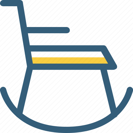 chair, decoration, furniture, home decor, rocking chair icon