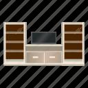 cabinet, display, furniture, interior icon