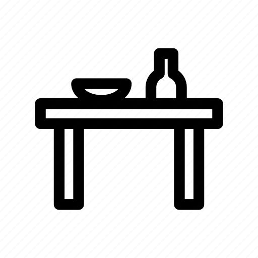 desk, dining table, furniture, interior, table icon