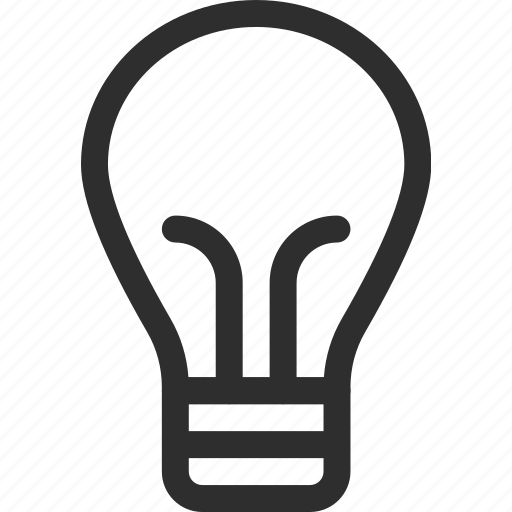 25px, bulb, iconspace icon