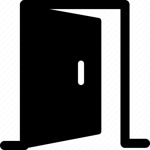 apartment, close, door, exit, furniture, out, perspective icon