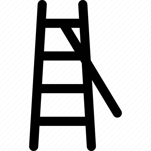 down, ladder, rail, renovation, stairs, tool, up icon