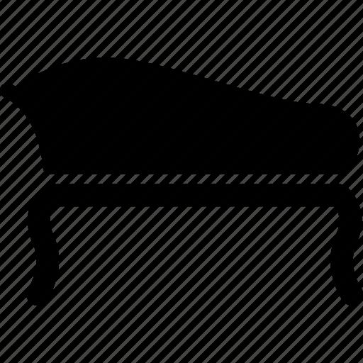 curved back sofa, furniture, indoor, interior, sofa icon