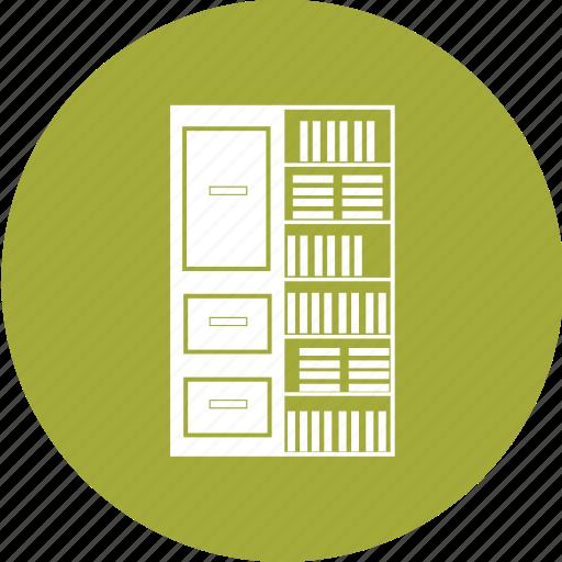 books, library, rack, school, shelf, study icon