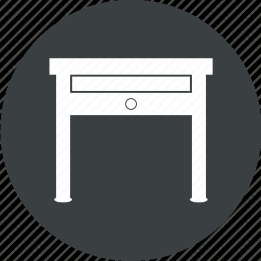 desk, office, office desk, office furniture icon