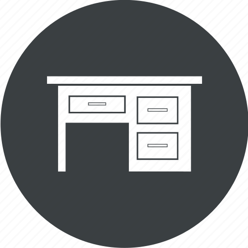 computer table, furniture, office table, table icon