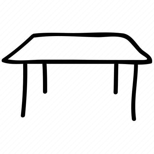 furniture, office, studio table, table icon