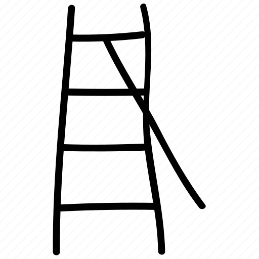 ladder, rail, stairs, up icon
