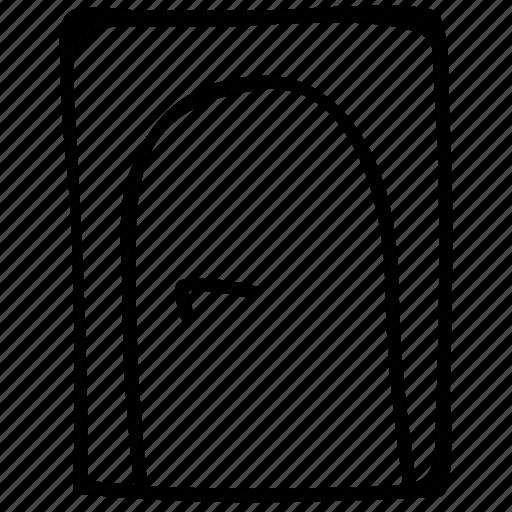 close, door, entrance, out icon