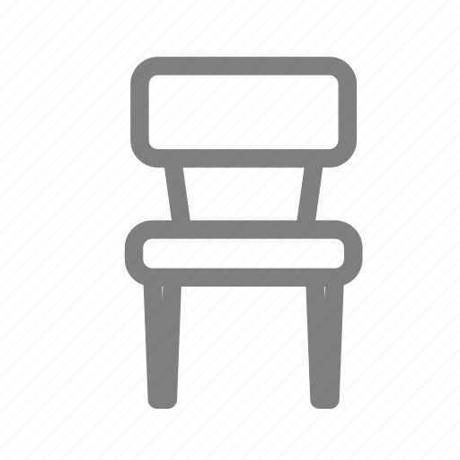 chair, furniture, student, wood icon