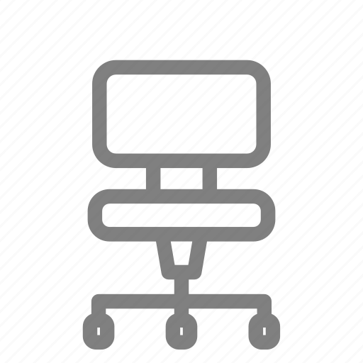 chair, furniture, office, wheel, work icon