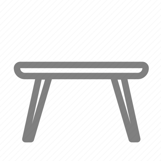 desk, furniture, table, wood icon