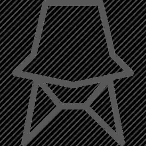 chair, designer, furniture, interior, rest, sit icon