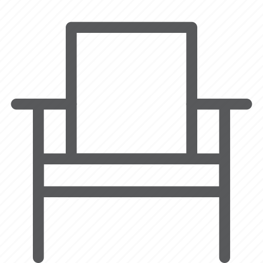 chair, furniture, home, interior, rest, simple, sit icon