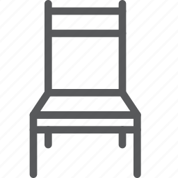 chair, furniture, house, interior, rest, simple, sit icon