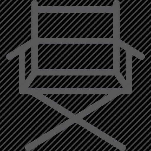 chair, director, furniture, interior, rest, set, sit icon