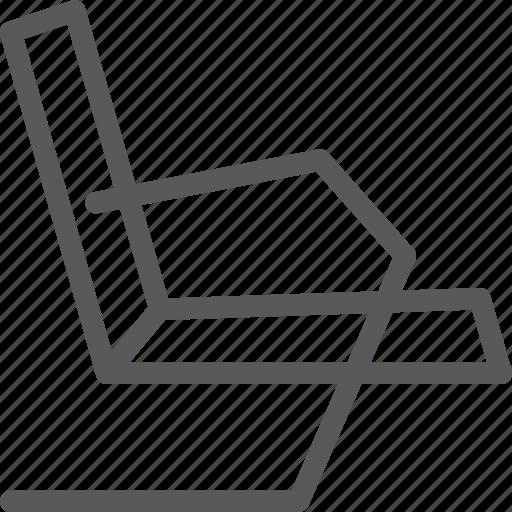 chair, decor, furniture, interior, lounge, rest, sit icon