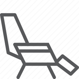 chair, comfort, furniture, interior, lounge, rest, sit icon