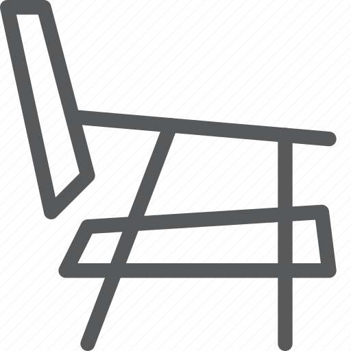 chair, decor, furniture, home, interior, rest, side, sit icon