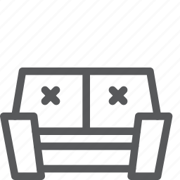 couch, furniture, interior, lounge, rest, sit, sofa icon