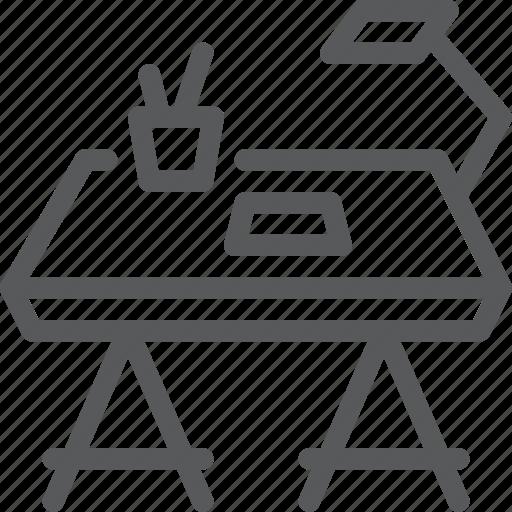 artist, designer, furniture, sit, stool, table, work icon