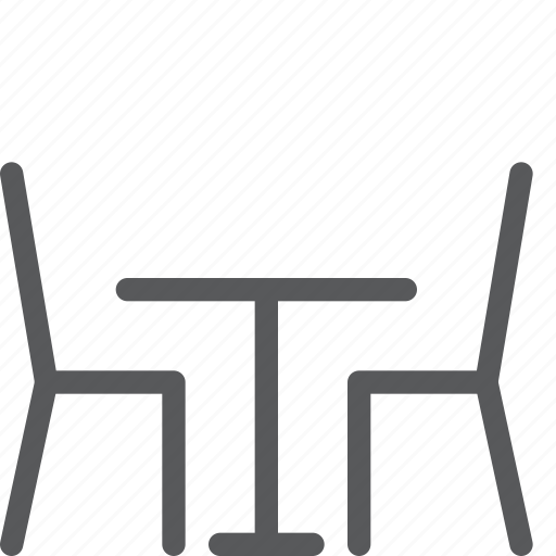 chair, diner, eat, furniture, kitchen, restaurant, table icon