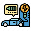 car, charging, electric, energy, station icon