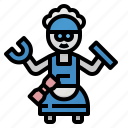 helper, housemate, mechanic, robot, robotics icon