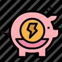 business, electric, power, storage, ups icon