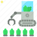 agribot, agriculture, cultivation, farm, future, robot icon