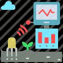 agriculture, air, data, farming, nutrient, sensor, soil icon