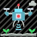 agriculture, drones, farming, future, survey icon