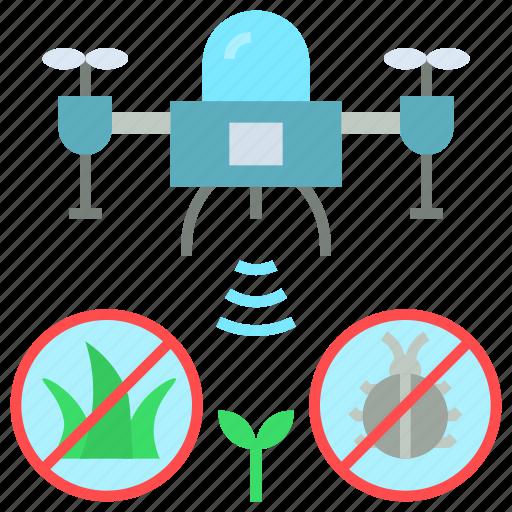 drone, eliminating, enemie, pest, survey, weed icon