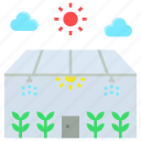 agriculture, closed, ecological, farming, future, greenhouse icon
