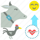 farm, happy, health, improve, livestock, tracker icon