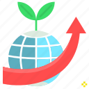 agriculture, farming, future, increase, production icon