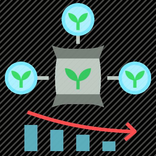 agriculture, chemical, farming, fertilizer, less icon