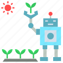 agriculture, cultivation, farm, future, labour, robotic icon