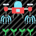 drone, farm, future, robot, spray, watering