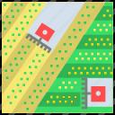 agriculture, control, cultivation, farm, future, swath icon