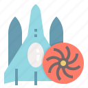 delivery, shipping, spaceship, transportation, universal icon