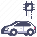 car, driverless, future, intelligence, system, technology, vehicle icon