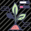 agriculture, data, farm, farming, plant, smart, technology icon
