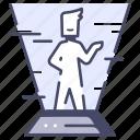 computer, digital, future, hologram, man, people, technology icon